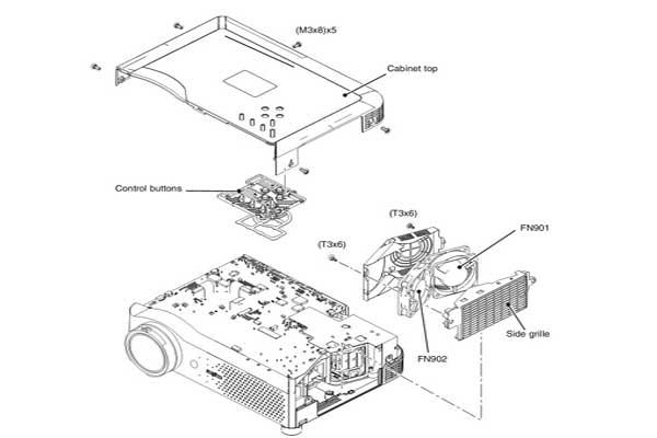 تعمیر لامپ ویدئو پروژکتور